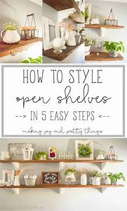 How, To, Style, Open, Shelves, In, 5, Easy, Steps