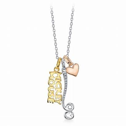 Mickey Mouse Anniversary 90th Jewelry Pendant Necklace