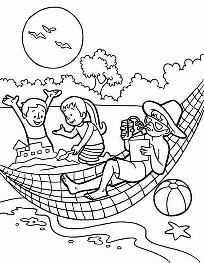 Coloring Holiday Summertime Sheets Printable Ausmalbilder Familie