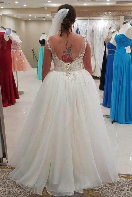 birds bridal size  ball gown dress  hand