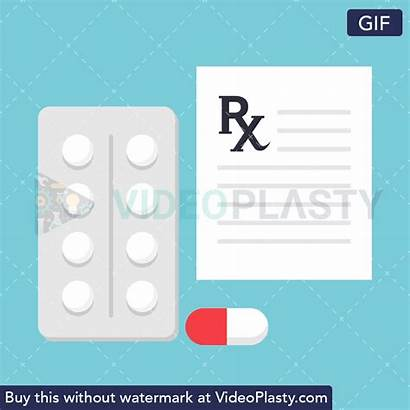 Flat Videoplasty Prescription Doctor Icon Gifs Pill