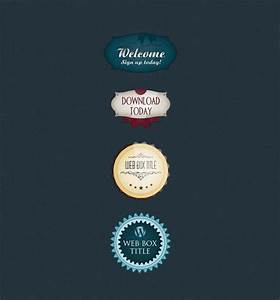 Badge And Label Vector Template With Psd File