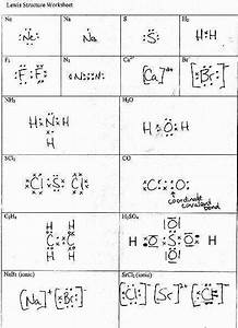 Lewis Structures Worksheet