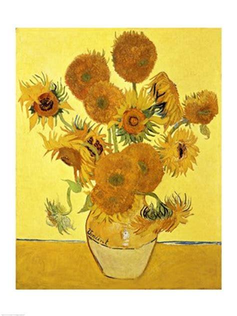 sunflowers  yellow fine art print  vincent van gogh