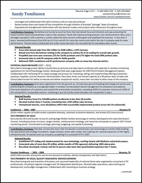 Key Parts Of A Resume by Exle Devices Sales Resume Distinctive Career Services