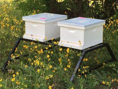 square metal tubing the bee c hive stand beeweaver apiaries