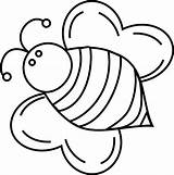 Bee Coloring Pages Bumble Queen Bees Bumblebee Cute Fat Print Drawing Printable Template Clipart Honey Baby Cliparts Getcolorings Bumblebees Clip sketch template