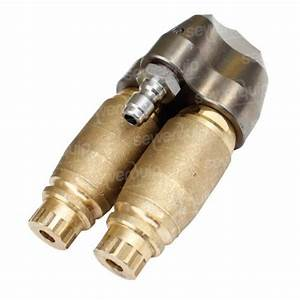 Double Barrel Reverse Turbine Nozzle - Water Jetting Nozzles And Accessories