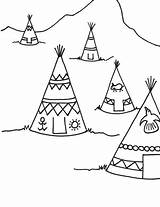 Teepee Thanksgiving Coloring Pages Drawing Printable Indian Indians Teepees Tipi Sheets Sheet Printables Drawings Crafts Getdrawings Preschool Colouring Craft Activities sketch template