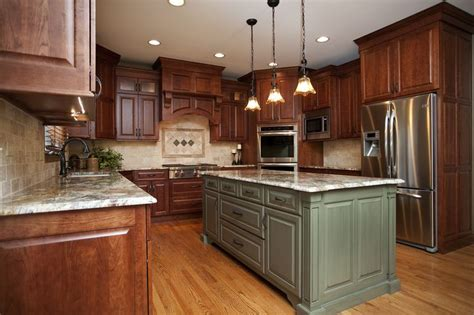 country kitchen pictures gorgeous cherry cabinets in shaker style alder island 3623