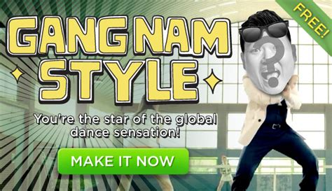 Create Personalized Gangnam Style Holiday Card