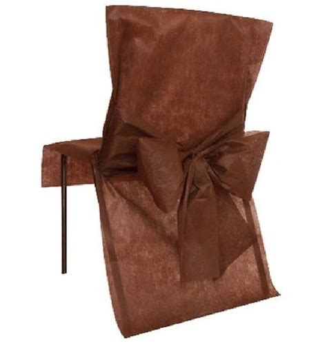 achat housse de chaise mariage intiss 233 e avec noeud chocolat tables 1001 deco table