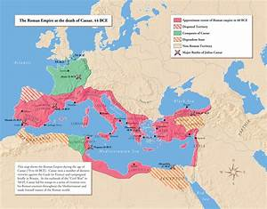 Julius Caesar's Conquest of Gaul (map of empire around 50 ...