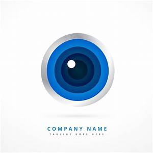 Logo with eye shape Vector | Free Download