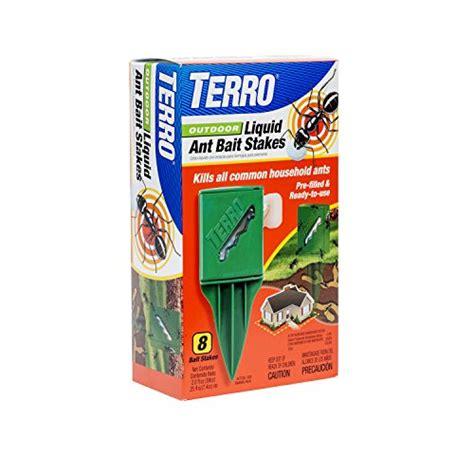 best ant bait terro t1812 outdoor liquid ant killer bait stakes 8 count 0 25 oz each b00grtnrj4 amazon