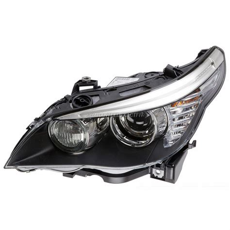2008 Bmw 535 Headlight Assembly Left Driver Side Xenon