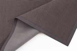 tapis sisal manaus gris fonce trendcarpetfr With tapis sisal gris