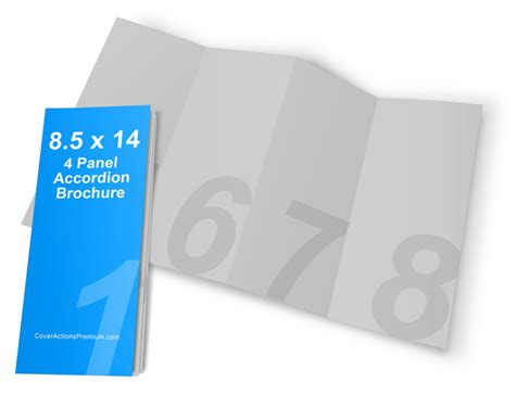 8 5 X 5 5 Accordion Fold Brochure Template 4 Panel Accordion Fold Brochure Mockup Cover Actions