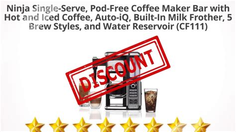 It seemed that the smaller brew sizes were not quite as hot sure, you can try that with your regular coffee pot, but don't be surprised if the results are a dissatisfying amalgam. Ninja Single-Serve, Pod-Free Coffee Maker Bar with Hot and Iced   Review and Discount - YouTube