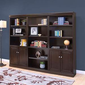 kathy, ireland, home, by, martin, fulton, wood, wall, bookcase, with, doors, -, espresso