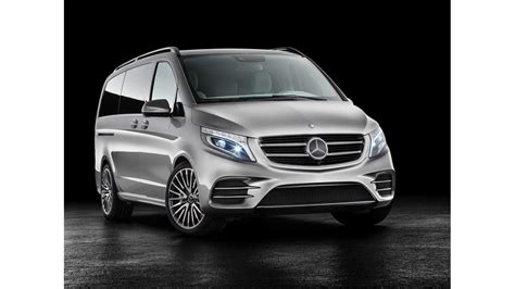 The vaneo and the viano. Mercedes-Benz Unveils V-Class Plug-In Hybrid Minivan