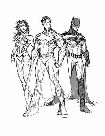 Justice League Drawing Coloring 52 Progress Deviantart