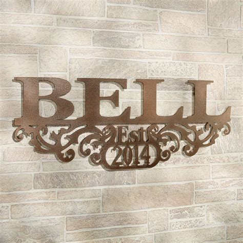 kinship bronze family   year personalized metal wall art sign