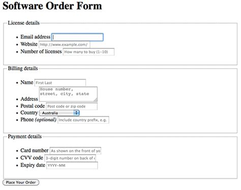 banish javascript in web forms with html5