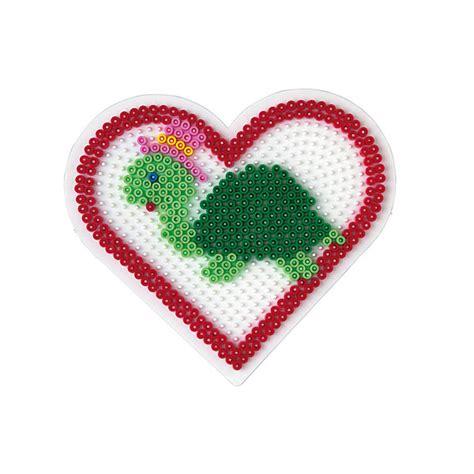 bebe siege plaque pour perles à repasser coeur grand modèle hama