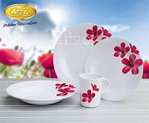 Service A Vaisselle : hibiscus service a vaisselle 2 personnes 8 pi ces ~ Teatrodelosmanantiales.com Idées de Décoration