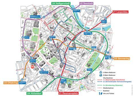 Carte Monument Pdf by Plan Et Carte Touristique De Vienne Monuments Et Circuits