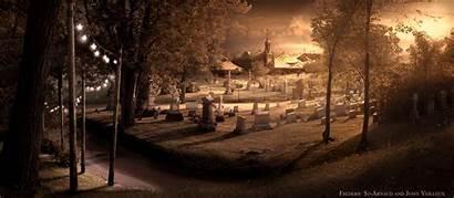 Graveyard Cemetery Circus Halloween Gruselige Haunted Dark