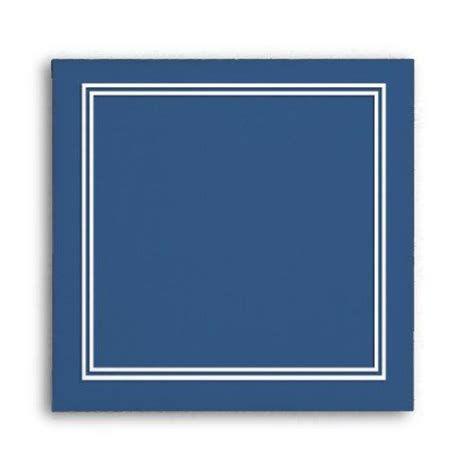 double white shadowed border  iris blue envelope