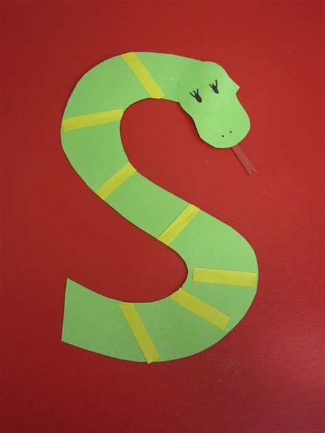 s is for snake preschool alphabet craft alphabet 642 | 6234ef22cc4266fb57f0fd8952cc2851