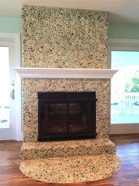 fireplace pebbles 19 stylish fireplace tile ideas for your fireplace surround
