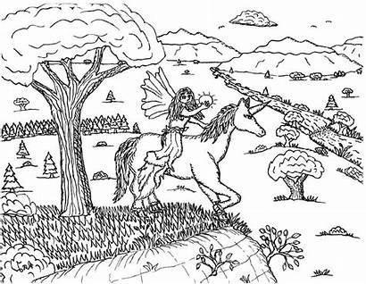 Unicorn Coloring Fairy Printable
