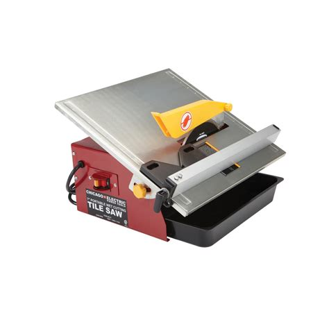 chicago electric tile saw 7 7 in portable cut tile saw
