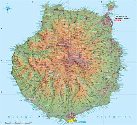 gran canaria landkaart gran canaria map plattegrond