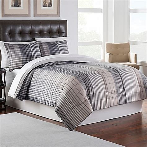 bed bath beyond comforter sets clarence comforter set in plaid bed bath beyond