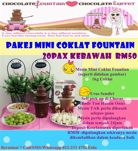 chocolate fountain murah  berbaloi full package