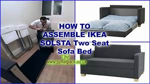 ikea solsta ullvi two seat sofa bed assembly youtube With how to open a sofa bed