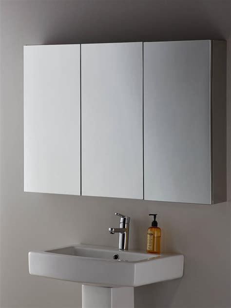 john lewis partners triple mirrored bathroom cabinet