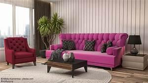 Haus Mit Dem Rosa Sofa : sofas in pink mutige akzente setzen ~ Lizthompson.info Haus und Dekorationen