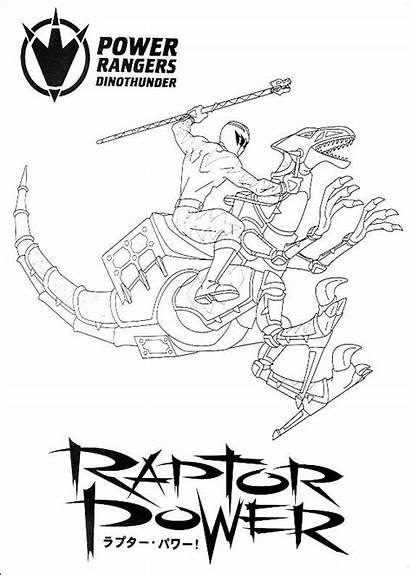 Power Rangers Coloring Dino Ranger Kleurplaten Colorir