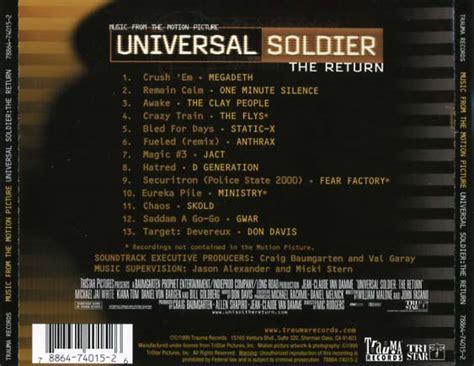 universal soldier  return soundtrack  cd