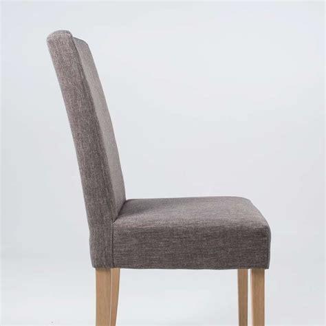 chaise bois et tissu chaise de salle à manger en tissu et bois massif gaby mobitec 4 pieds tables chaises et