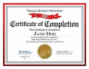 Free Certificate Template Certificate Completion Template Free Download Images Certificate Design And Template