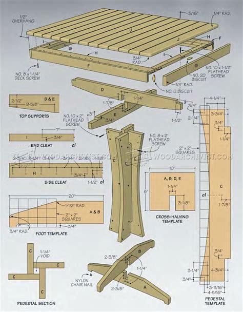 outdoor high top table plans woodarchivist