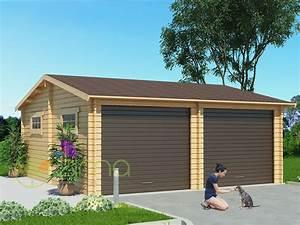 Garage En Bois 20m2 : garage en bois 600x600 44mm 36m ~ Dailycaller-alerts.com Idées de Décoration