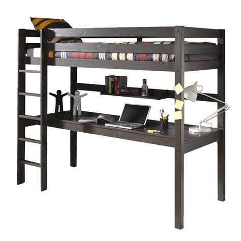 lit superposé bureau ikea lit enfant superposé bureau etagère quot pino quot gris